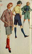 VTG 50s Blazer Jacket & Bermuda Shorts Unused FF Simplicity 1695 Size 12 Bust 32