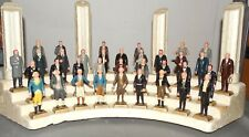 Vintage MARX United States PRESIDENTS painted Set of 35 Original Stand 1960s