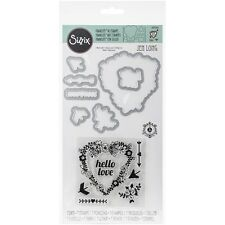 Sizzix Framelits Die Set & Stamps - Hello Love -#293