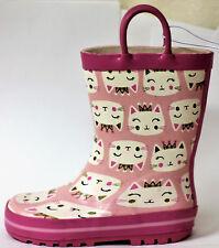 NEW Pink Cat Princess Rain Boots Size 10 Gum Boots Children Girls kids
