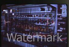 1980s 35mm photo slide Grocery store interior #1   stamp vending machine