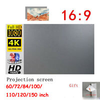 "60""-150"" Projector Screen Curtain Anti-light Home Outdoor Office Portable 3D HD~"