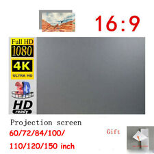 """60""""-150"""" Projector Screen Curtain Anti-light Home Outdoor Office Portable 3D HD~"""