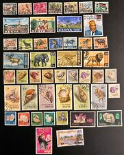 KENYA NICE LOT OF 65 DIFFERENT 1963-1990 SOME BETTER ISSUES