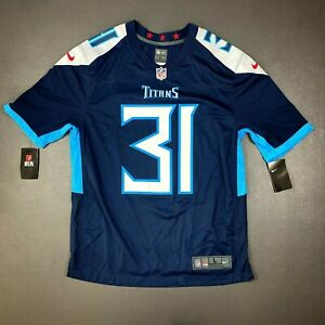 100% Authentic Kevin Byard Nike Titans On Field Game Jersey Size L 44 Mens