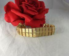 Vintage BSK Gold tone Tassle  Bracelet CAT RESCUE