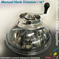"16"" Stainless Manual Bud Leaf Trimmer Hydroponics Clear Top Bowl Trimmer"