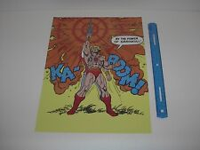 MASTERS OF THE UNIVERSE TRANSFORMATION PRINCE ADAM TO HE-MAN POSTER PIN UP NEW