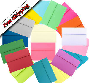 Multi Assorted 25 Boxed A7 Envelopes for 5 x 7 Greeting Card Invitation Showers