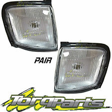 PAIR CORNER LIGHT SUIT HOLDEN TF 97-03 RODEO CLEAR PARKER LAMP INDICATOR