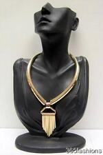 Declaración de Rock Elegante Estilo Deco Spike tachonado Quill obras Collar Collar De Oro