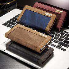 Luxury CaseMe Denim Canvas Wallet Case Flip Cover for iPhone 6 7 8 Xr Max 11 Pro