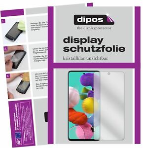 4x Schutzfolie für Samsung Galaxy A51 klar Displayschutzfolie Folie Display
