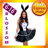 J65 Ladies Play Boy Bunny Rabbit Fancy Dress Hens Night Party Halloween Costume