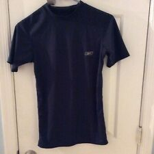 Reebok- Play Dry Dark Blue T-Shirt-slightly Used Excellent-made In Mexico-Medium