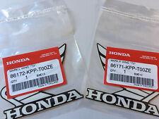 Honda Wings Decal X2 95mm Black/White Part Number 86171/86172-KPP-T00ZE