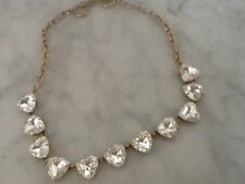 Stella And Dot Gold Tone And Rhinestone Necklace