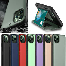 For iPhone 11 Pro Max XR XS 6 7 8 Plus Wallet Card Holder Mirror Hybrid TPU Case