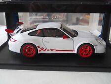 AUTOart Porsche 911 (997) GT3 RS 3.8 White  w/ Red Stripes 1:18 Diecast