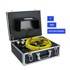 """7"""" LCD 30M Sewer Updated Camera Pipe Snake Drain Video Recording Inspection DVR"""