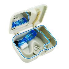 """Denture Storage Box Case With Mirror Clean Brush Dental 4.5"""" X 1 1/2""""X 3 5/8"""""""