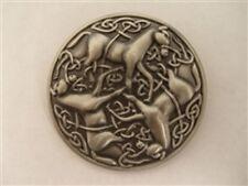 Pewter Celtic Horse Knot-Work Epona Brooch