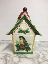 Lenox Winter Greetings Everyday Birdhouse Covered Candy Dish