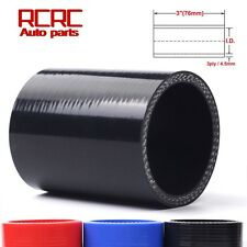 "4"" Inch 102MM Straight Silicone Coupler Hose Turbo Intercooler Intake Pipe BLACK"