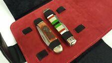 Knife Storage Case Roll Pouch Pocket Knives Folding Blade Knife Belt Black