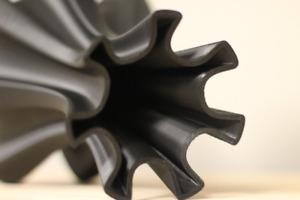 Black Vase - 3D Printed - Modern Decor