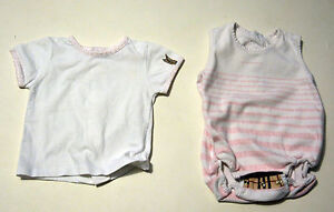 Great Baby Set From Burberry Body And Shirt Size 50/56 Newborn