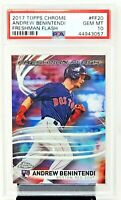 2017 Topps Chrome Red Sox ANDREW BENINTENDI RC Baseball Card PSA 10 GEM MINT