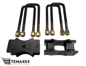"Rear U-Bolt Block Lift Kit 2"" 50mm For Mitsubishi L200, Triton 2015+"