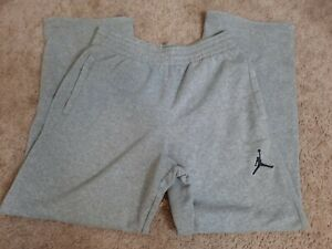 Mens Air Jordan Wide Leg Heather Gray Sweatpants Medium Activewear Lounge Pants