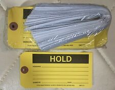 300 Hold Yellow Labels With Plastic Ties Retail Merchandise Business Store Tags