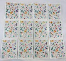 Vintage Hallmark Christmas Stickers Lot 12 Sheets Animals by David Walker