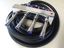 Lowrider hydraulics (PRE-WIRED) CHROME 3-PUMP- 3DUMP KIT F-B-BL-BR  KIT W/17 FT