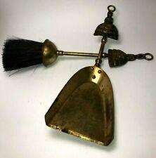 FIREPLACE Set Brush and Dustpan Vintage Brass Ladys