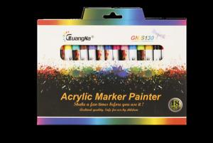 12/18 Farben Acrylstifte Metallic Marker Set Für Graffiti 0.7mm Wasserfest