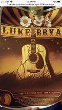 Luke Bryan 2014 Tour Poster