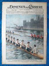 La Domenica del Corriere 1 agosto 1920 Tamigi,Londra - Anversa - Roma