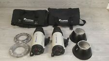 2x adorama flashpoint 620m studio strobes 300ws w/ speed rings for softboxes