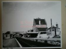 PHOTO  10 X 8 INCHES - CREWKERNE RAILWAY STATION LSWR - VIEW ALONG PLATFORM TOWA