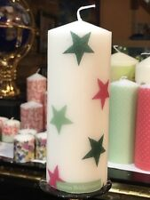 EMMA BRIDGEWATER CHRISTMAS STAR Hand Decorated Pillar Candle 15x6cm