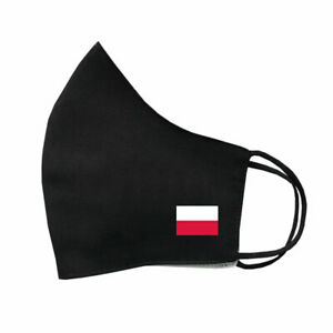 Poland Flag Mask Protective Covering Washable Reusable Breathable Polish Flag