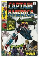 Bronze Age 1970 Captain America Comic 129 from Marvel Comics The Red Skull