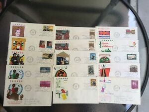 58- 1969/71 Canada First Day Covers-Jackson Cachets-Lots Unaddressed