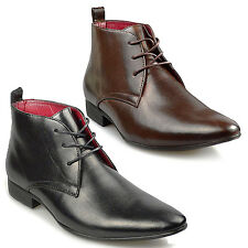 MENS SMART WEDDING SHOES ITALIAN FORMAL OFFICE WORK CASUAL LEATHER BOOTS SIZES
