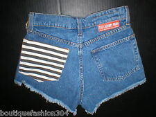 New NWT $99 Womens USA 25 The Laundry Room Shorts Blue Cut off Jean High Waist