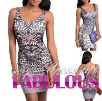 NEW SEXY MINI DRESS PARTY CASUAL CLUBBING EVENING TATTOO Size 4 6 8 10 12 S M L
